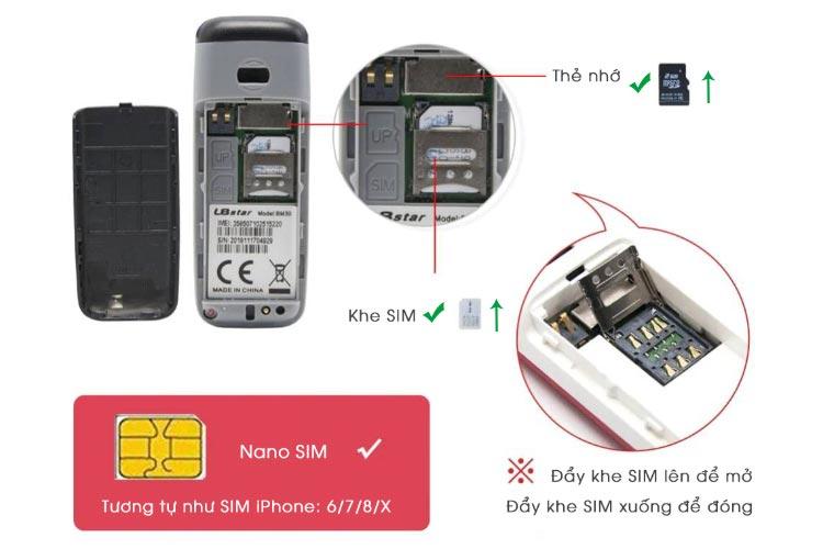 Hướng dẫn lắp SIM và thẻ nhớ L8star BM30