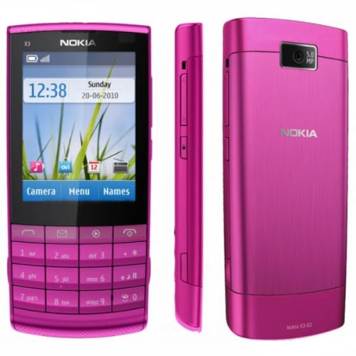 Nokia X3-02 màu hồng