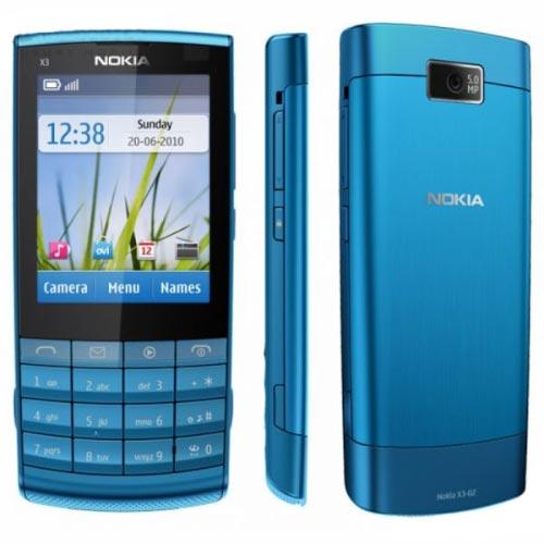 Nokia X3-02 màu xanh