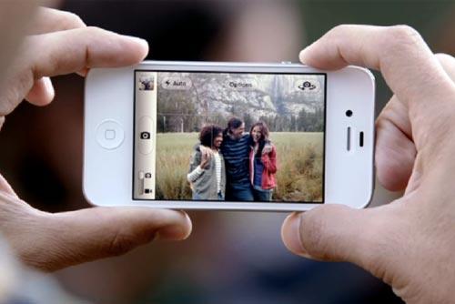 chụp ảnh với iphone 4