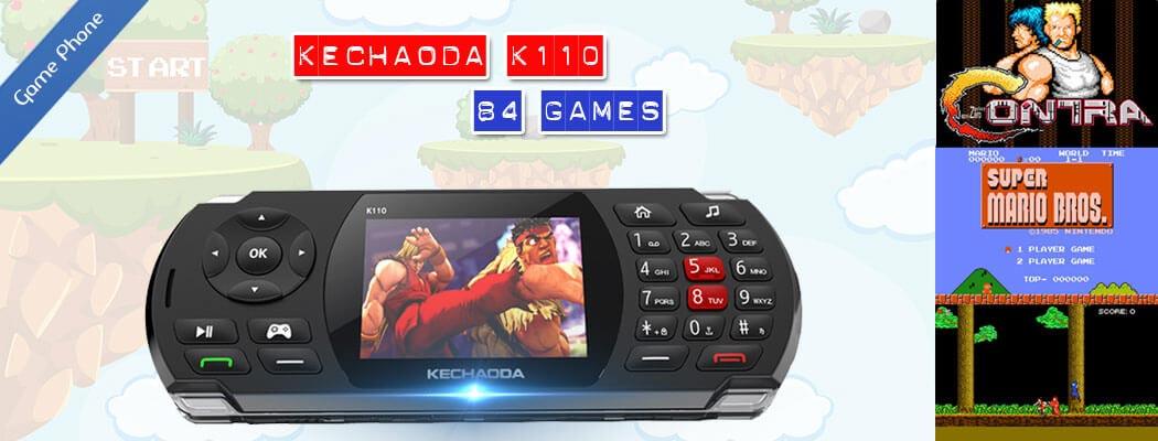 Điện thoại Kechaoda K110 hỗ trợ 84 game