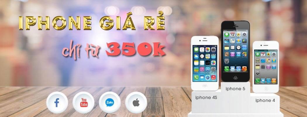 Điện thoại iPhone cũ giá rẻ dưới 500k