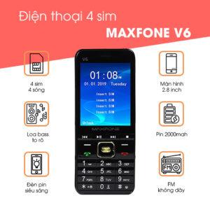 Maxfone V6 màu đen