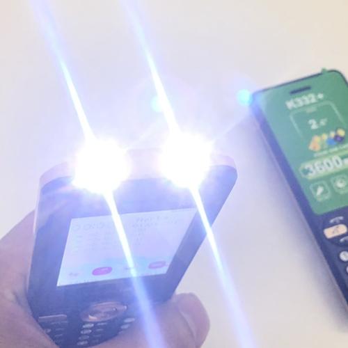 Nokia K332+ hỗ trợ đèn pin