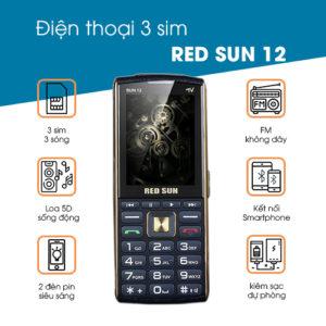 Điện thoại Red Sun 12 Xanh